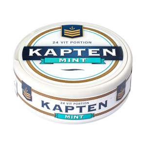 kapten vit mint portionssnus white