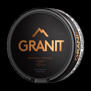 Om produkten Granit Original Portion Large Granit Portion är ett klassiskt portionssnus med uttalad och tydlig smak av tobak. Den är något pepprig och för den vane snusaren är smaken välkänd. Granit Portionssnus är ett snus från Fiedler & Lundgren och var en av de första snusvarumärkena som utmanade monopolet. Kolla gärna in Granits övriga sortiment här. Fakta om produkten Varumärke Granit Produkttyp Original portion Vikt 0.3579 Styrka Normal Nikotinhalt 9 mg/g Innehåll/förpackning (gram) 19,8 Snustyp Portion Format Normal Producent BAT snushandel nyköping påljungshage köpcentrum snusbutiken