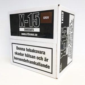 gör eget snus - lössnus Snussats X-15 Original 1 kg ger dig cirka 60 dosor lössnus i färdig form efter att du har bakat det i ugnen. Receptet har anor från 1800-talet och tillsammans med väl utvalda tobakssorter får du ett finmalet snus av högsta klass med en ren tobakssmak. snushandel nyköping tobaksbutik snusbutiken påljungshage köpcentrum prillan cobra swedsnus lm360 fin malen tobak grov snus
