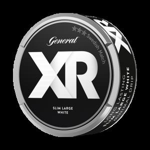 Om produkten XR General slim white Portionssnus XR General slim white Portionssnus levererar tydliga inslag av bergamott, citrus och en aning te i slimmade portioner. Snuset är torrt på ytan vilket ger en låg rinnighet men trots detta levererar snuset en långvarig smak. Fakta om produkten Varumärke XR Produkttyp White portion Vikt 0.338 Styrka Normal Nikotinhalt 8,5 mg/g Innehåll/förpackning (gram) 16,8 Snustyp Slim White Portion Format Slim Producent Swedish Match snushandel påljungshage köpcentrum snusbutiken nyköping