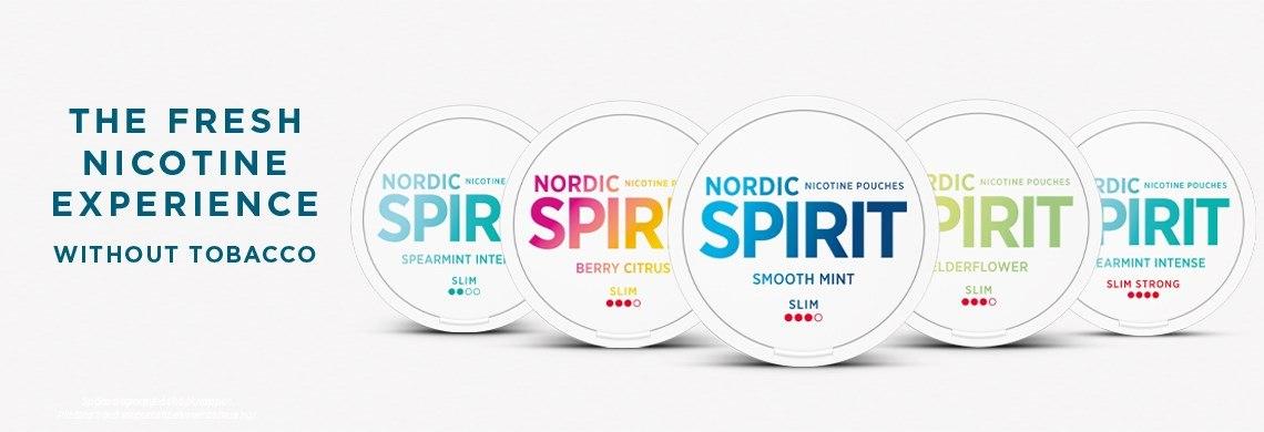 Nordic Spirit – helvita prillor, fräscha smaker och nordisk design Nordic Spirit är kritvita portioner som innehåller nikotin, men inte tobak. Nordic Spirit kommer i de fräscha och goda smakerna Mint och Bergamot Wildberry som båda är anpassade för att smaka länge och lagom mycket. Portionerna baseras på en blandning av växtfibrer och tuggummibas och detta gör bland annat att de inte missfärgar tänderna på samma sätt som traditionellt snus. Nordic Spirit är helt enkelt ett lätt och nytt sätt att njuta av nikotin, utan tobak. snushandel i nyköping ab snusbutiken snus affären påljungshage köpcentrum russian snus nordic snus jti