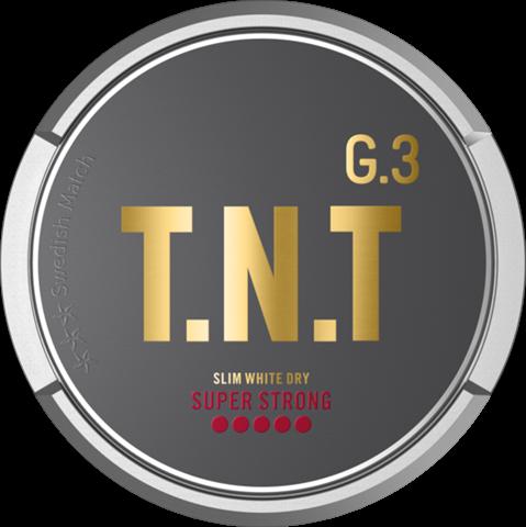 General G.3 T.N.T Slim White Dry Super Strong Portionssnus General G.3 T.N.T Slim White Dry Super Strong Portion är en kraftfull nyhet från Swedish Match. Snuset har en tydlig, ljus och kryddiggrundsmak av tobak ochsmakpaletten innehåller annars inslag avgröna örter, ek, ceder och nöt. Nikotinstyrkan i de slimmade och torra whiteportionerna landar på 26 mg/g och gör snuset 30% starkare än G.3 Extra Strong. Rinnigheten är också 20% lägre än G.3-portioner i vanligt slim-white-format. Om produkten General G.3 Extra Strong Slim White Portionssnus General G.3 Extra Strong Slim White har en optimeradpassform, högnikotinhalt och portioner som räckerlänge och väl för den gemene snusaren. I grunden ligger Johan A Bomans klassiska recept som förser smaken med sin välbekanta pepprighet och inslag av citrus. Se alla General här Fakta om produkten Varumärke G.3 Produkttyp White portion Styrka Extra Starkt Nikotinhalt 18 mg/g Innehåll/förpackning 16,6 g Snustyp Slim White Portion Format Slim Producent Swedish Match, snushandel i nyköping ab sverige svenskt snus swedish snus snuff, påljungshage köpcentrum öppettider, tobak, snusbutiken snusbutik, General G.3 Extra Strong Slim Portionssnus Varumärket General har kommit att bli en riktig klassiker i snusvärlden. Här har vi 3:e generationens generalsnus från varumärket, nämligen General G.3 Extra Strong Slim! Med sin optimerade passform och höga nikotinhalt ska dessa portioner räcka länge och väl för den gemene snusaren. I grunden ligger Johan A Bomans klassiska recept som förser smaken med sin välbekanta pepprighet och inslag av citrus. snus in Dubai, Om produkten General G.3 WIRE Slim White Dry Super Strong Portionssnus General G.3 WIRESlim White Dry Super Strong är ett torrt whitesnus som levereras i slimmade portioner. Varje prillahar en nikotinhalt som är 30% högre jämfört med de andra Extra Strong-produkterna från G.3. Tillsammans med 20% lägre rinnighet erbjuder Wire verkligen en stark snusupplevelse som håller i sig länge. Ge